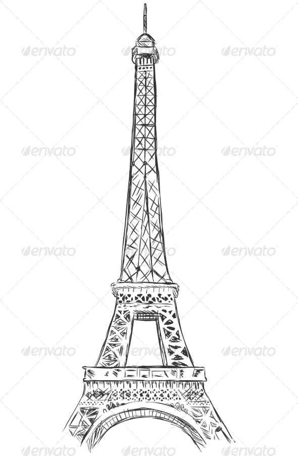 GraphicRiver Eiffel Tower Sketch 7573952