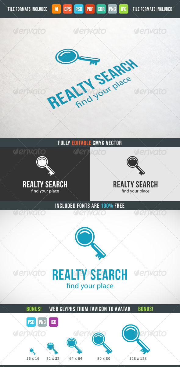 GraphicRiver Realty Search Logo 7573973