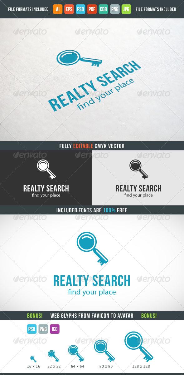 GraphicRiver Realty Search Logo 7573973