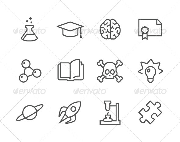 GraphicRiver Science Icons 7574091