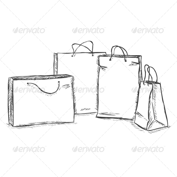 GraphicRiver Four Shopping Bags 7574108
