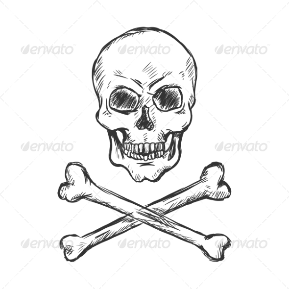 GraphicRiver Pirate Skull and Crossbones 7574152