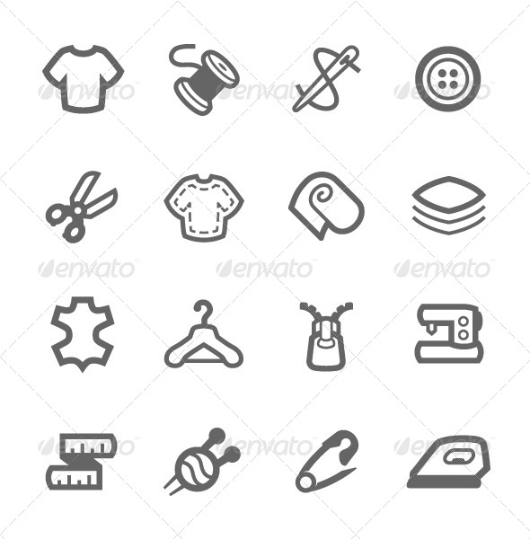 GraphicRiver Tailoring Icons 7574165
