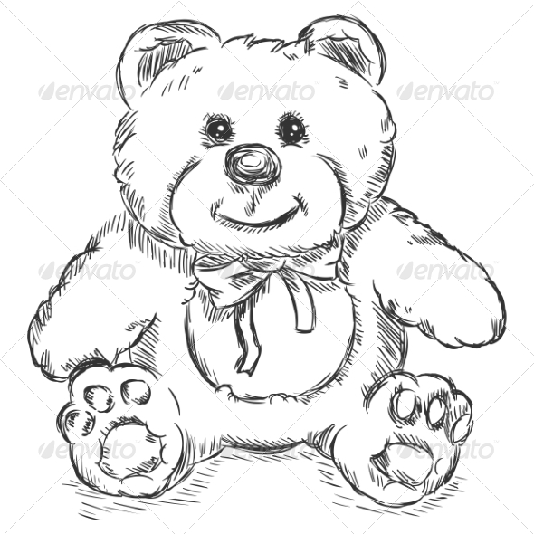 GraphicRiver Teddy Bear Sketch 7574175