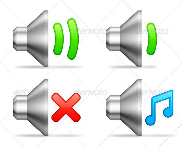 GraphicRiver Audio Volume Icons 7574218