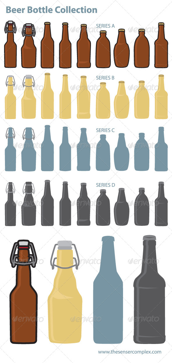 GraphicRiver Beer Bottle Collection 7574249
