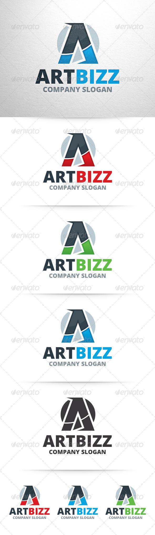 GraphicRiver Art Bizz Letter A Logo 7574273