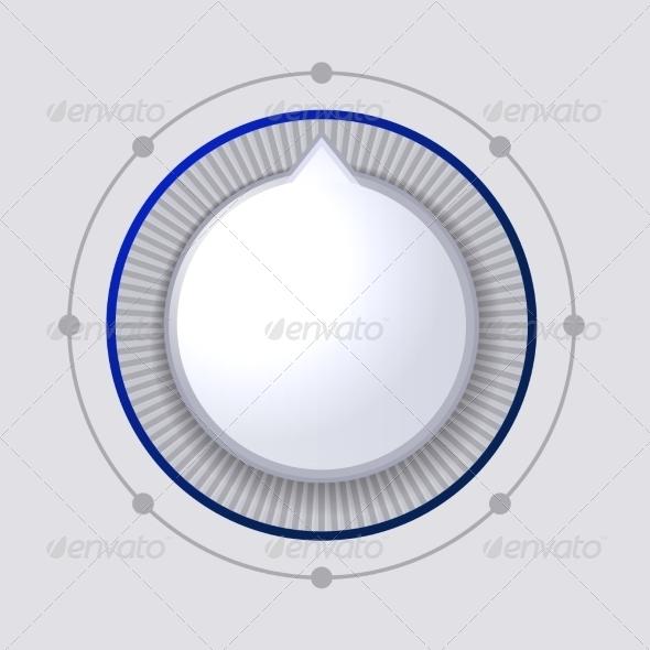 GraphicRiver Volume Control Dial White Button 7574280