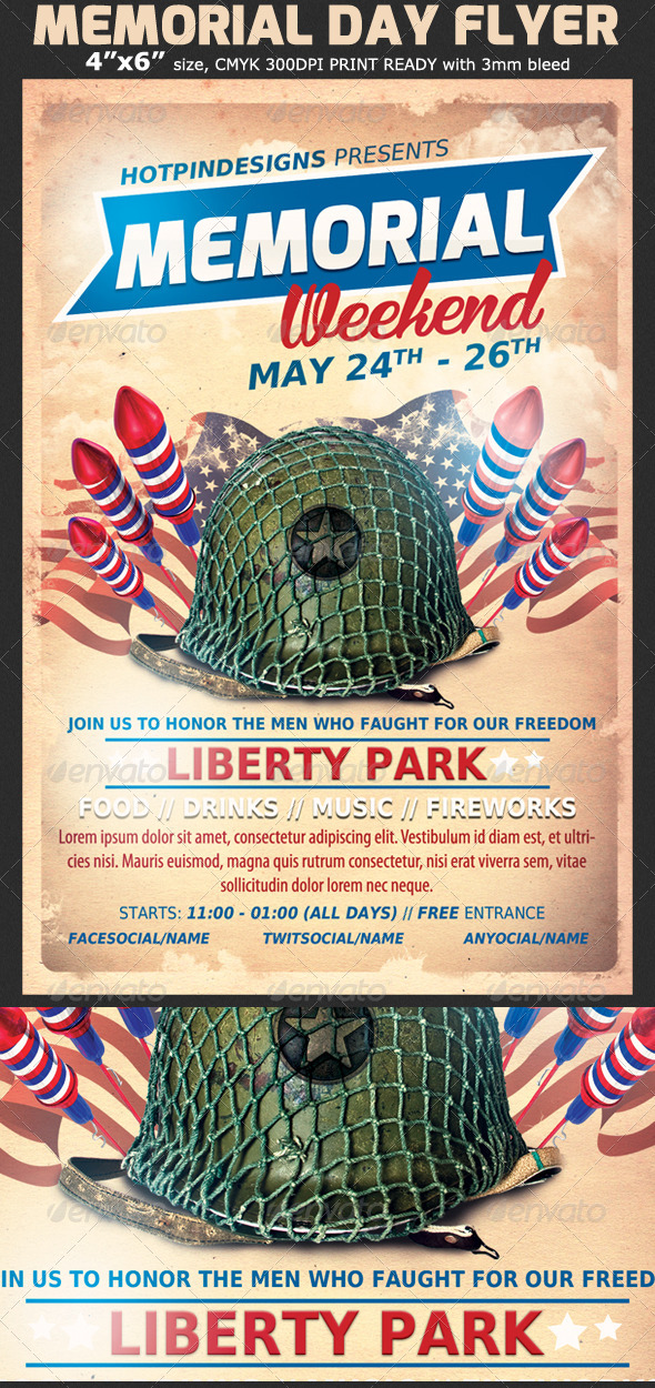 GraphicRiver Memorial Day Event Flyer Template 7574283
