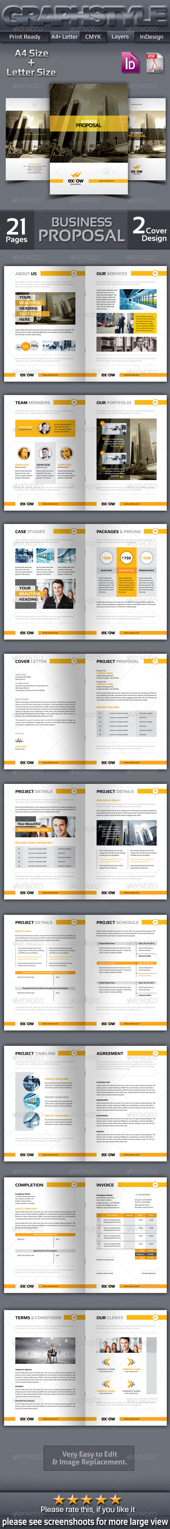 GraphicRiver Exrow Business Proposal 7574324