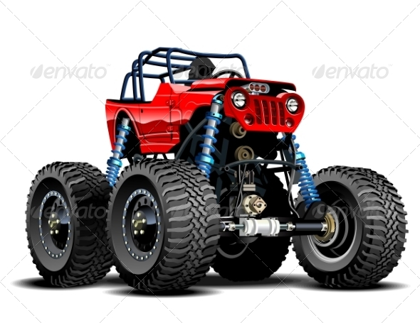 GraphicRiver Cartoon Monster Truck 7574385