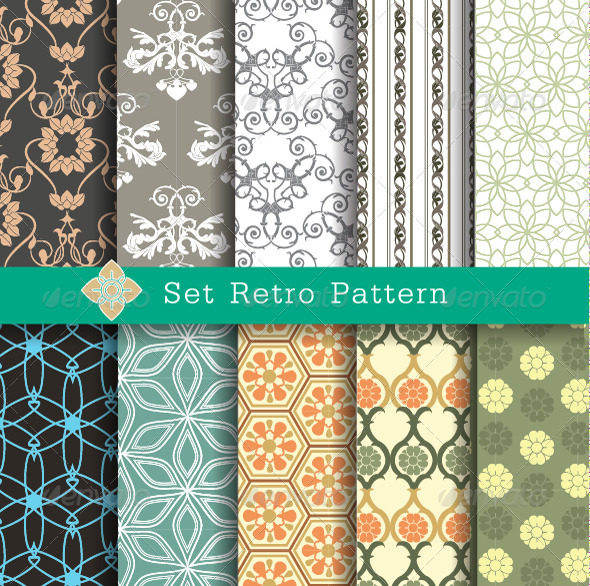 GraphicRiver Retro Pattern Set 7574415