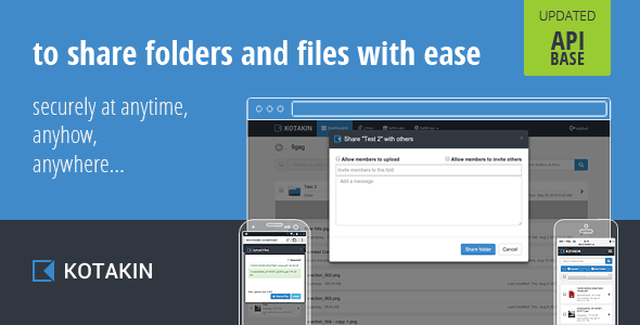 CodeCanyon Kotakin with API self-host file sharing 7574424