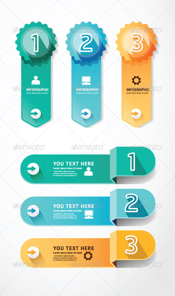 GraphicRiver Banners Number Template for Infographic 7185409