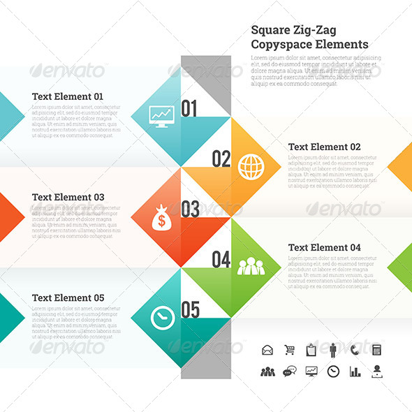 GraphicRiver Square Zig Zag Copyspace Design Element 7574594