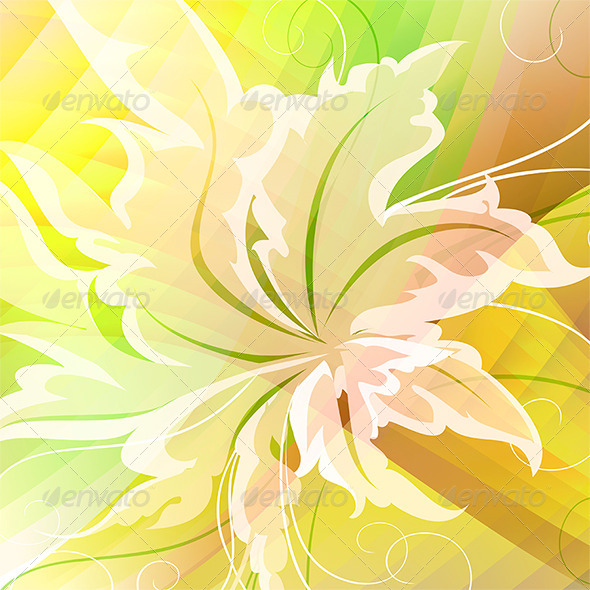 GraphicRiver Bright Floral Background 7574603