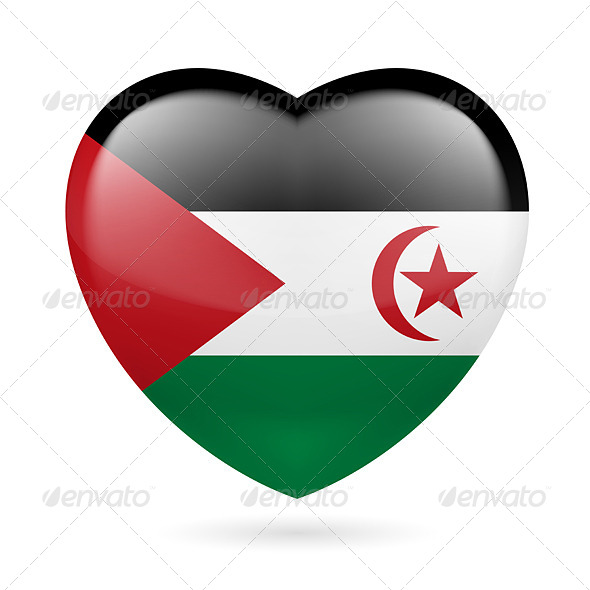 GraphicRiver Heart Icon of Sahrawi Arab Democratic Republic 7574627