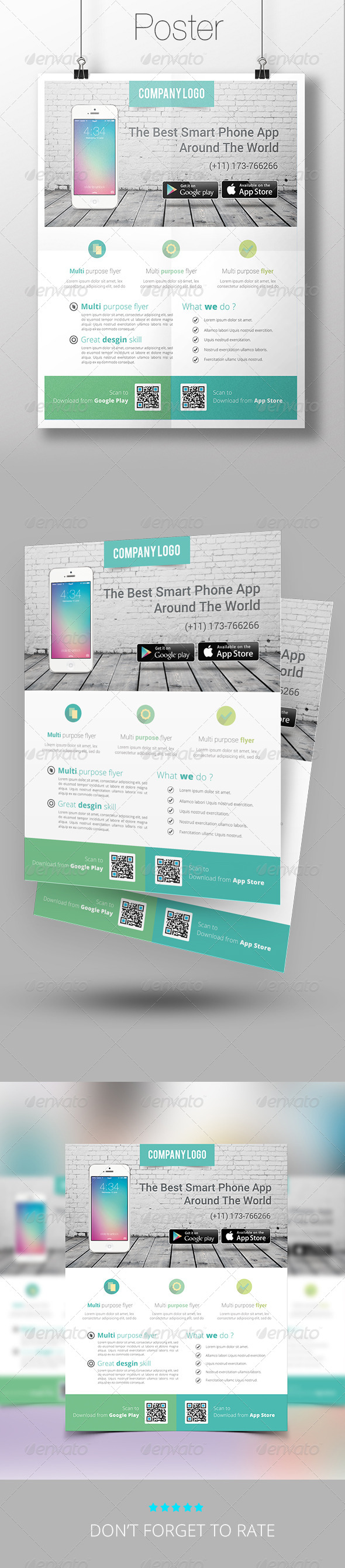 GraphicRiver App Promotion Flyer Template 7574749