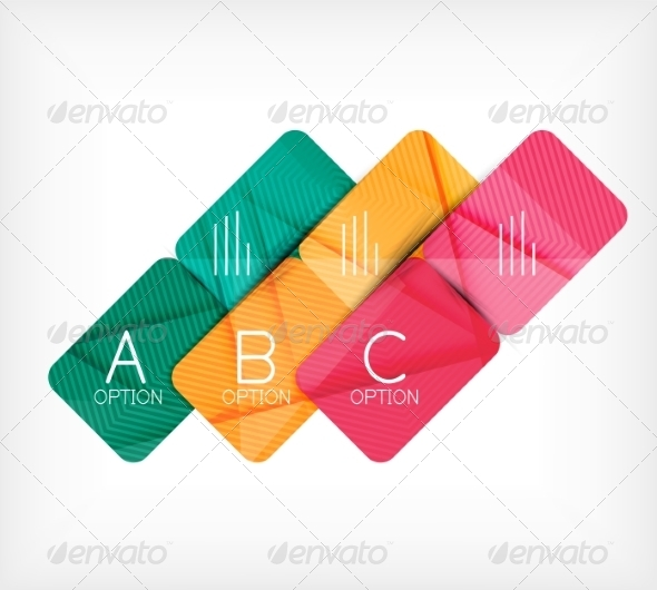 GraphicRiver Geometric Shaped Option Banner Design Template 7574756