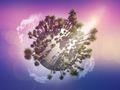 Palm tree globe - PhotoDune Item for Sale