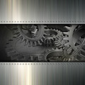Grunge metal gears background - PhotoDune Item for Sale