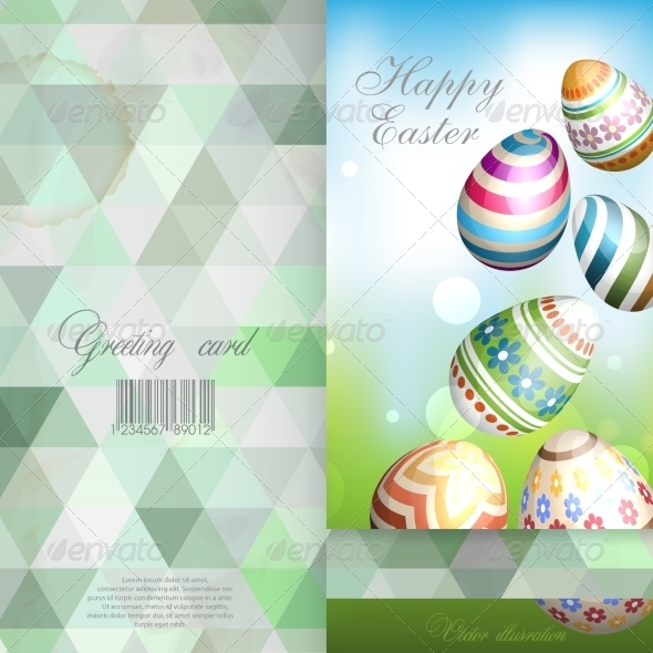 GraphicRiver Easter Background with Eggs In Grass 7575065