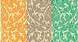 single pattern and wallpaper