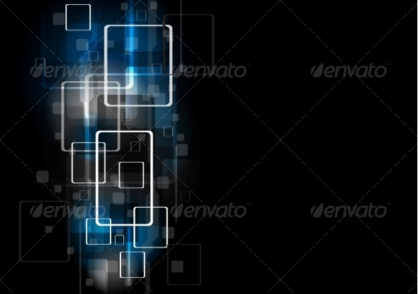 GraphicRiver Abstract Dark Geometrical Tech Design 7575225