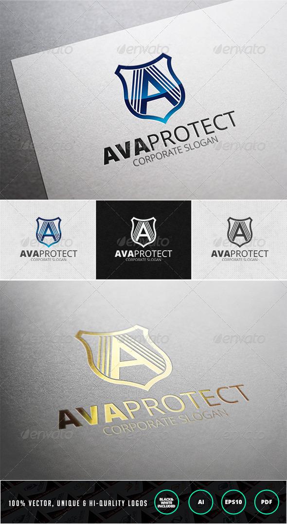 GraphicRiver Ava Protect Logo Template 7575299