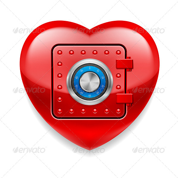 GraphicRiver Shiny Red Heart as a Safe 7575314