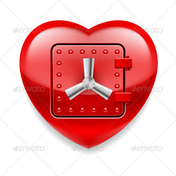 GraphicRiver Shiny Red Heart as a Safe 7575319