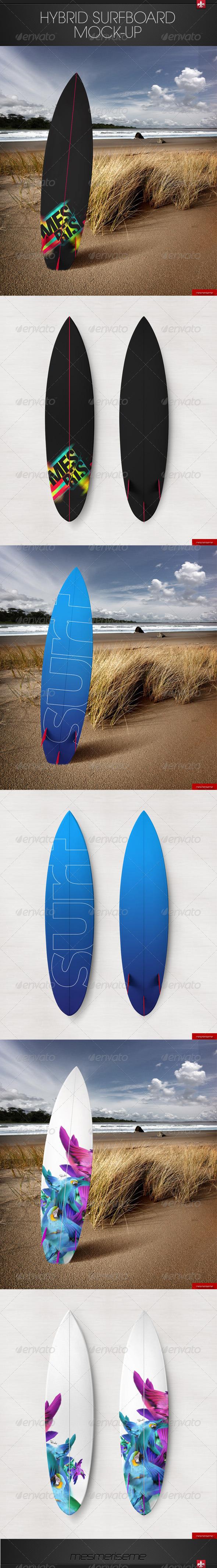 GraphicRiver Hybrid Surfboard Mock-up 7575436