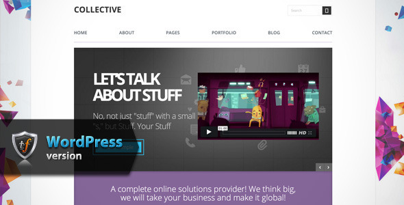 ThemeForest Collective Professional WordPress Theme 7575585