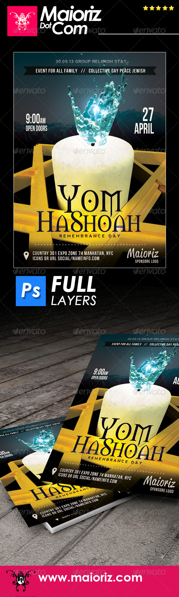 GraphicRiver Jewish Holiday Flyer 7575827
