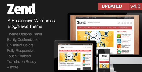 Zend - Responsive Blog/Magazine Wordpress theme