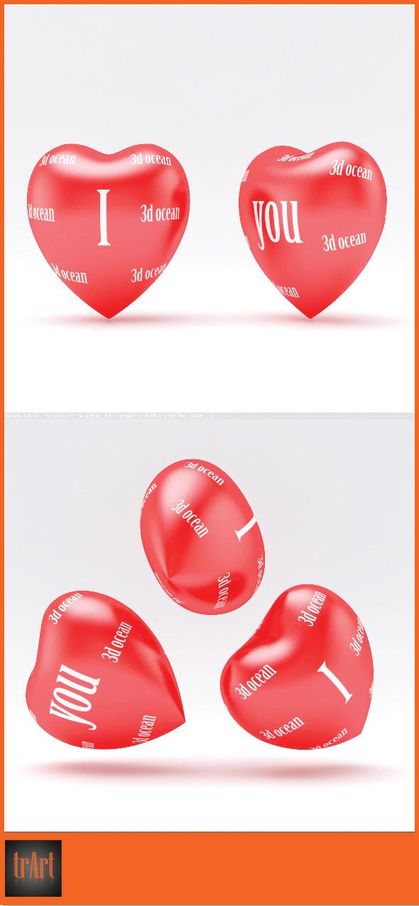 3DOcean 3D heart model 7575934