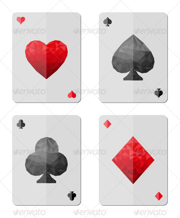 Playing Cards in Modern Triangle Style