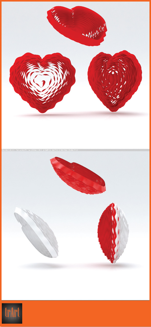 Heart 3d - 3DOcean Item for Sale