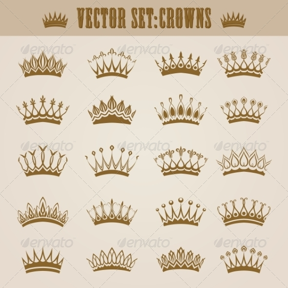 GraphicRiver Victorian Crowns 7576030