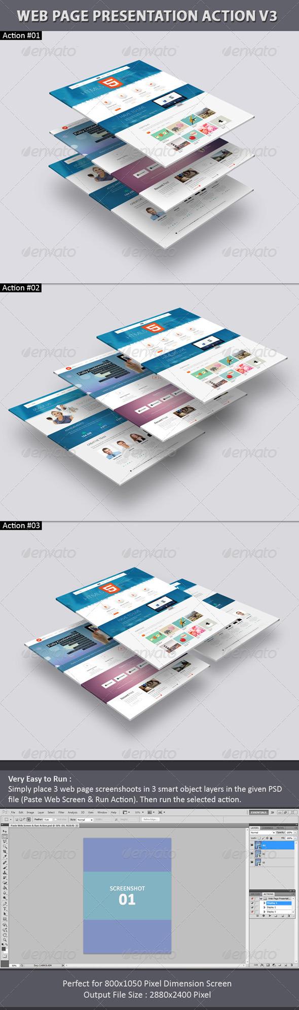 GraphicRiver Web Page Presentation Action V3 7576219