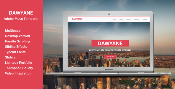 ThemeForest Dawyane Multipage Muse Template 7576248