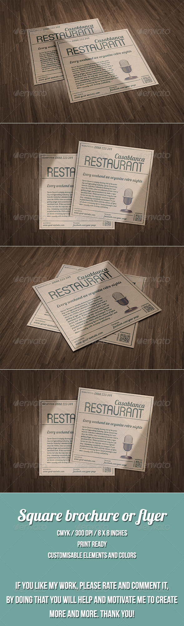 GraphicRiver Vintage style square flyer or poster 7576359