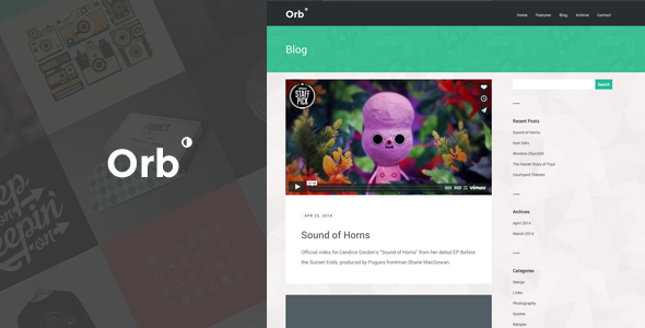 ThemeForest Orb A Neat Grid Style Portfolio Theme 7190174