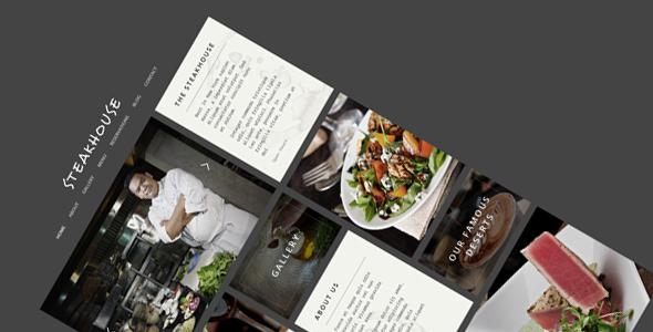 ThemeForest Steakhouse Responsive Retina HTML5 Restaurant 7576392
