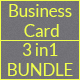 Creative Business Card - 3 in 1 Bundle  - GraphicRiver Item for Sale