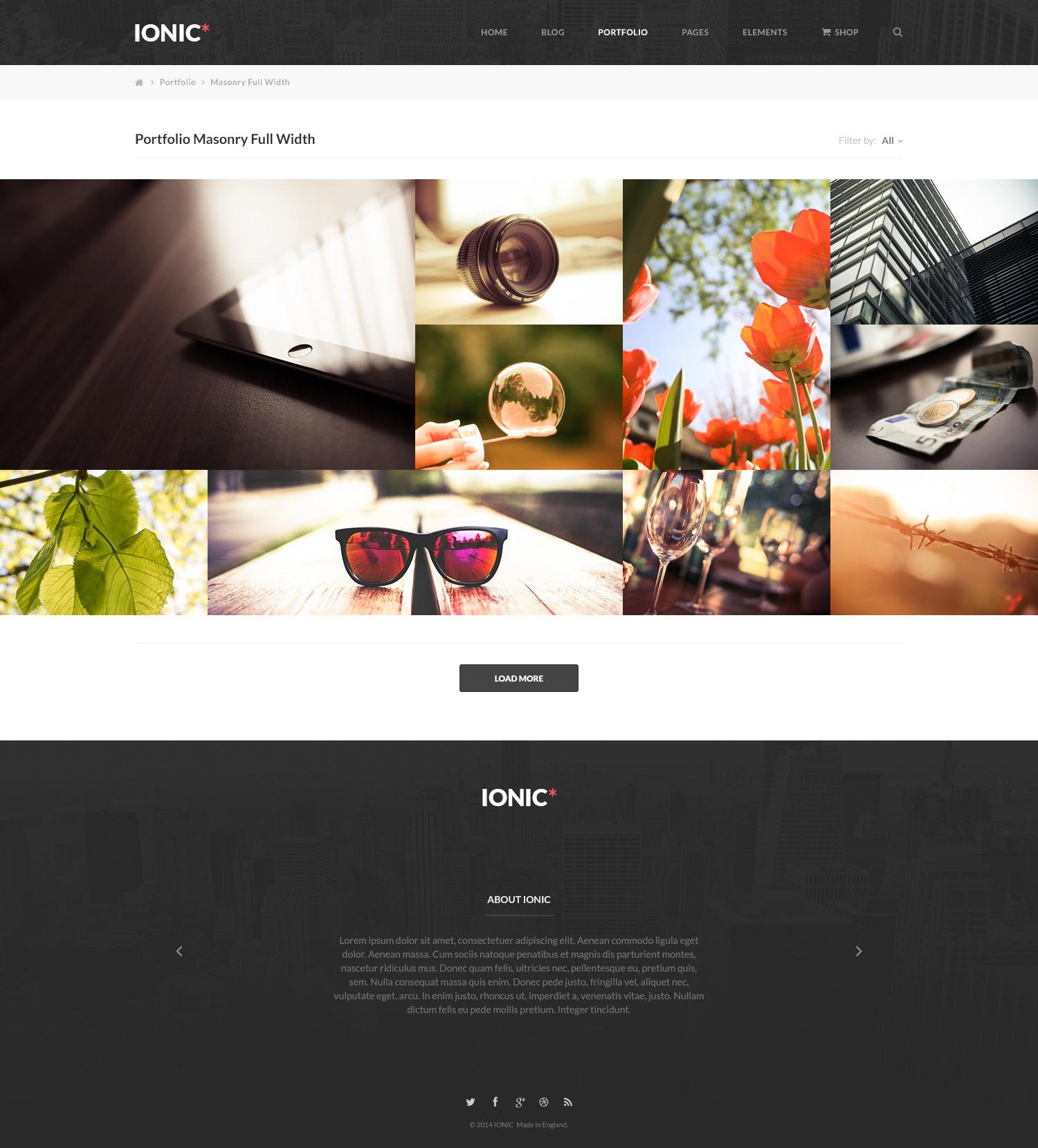 Ionic Multi-Purpose PSD Theme