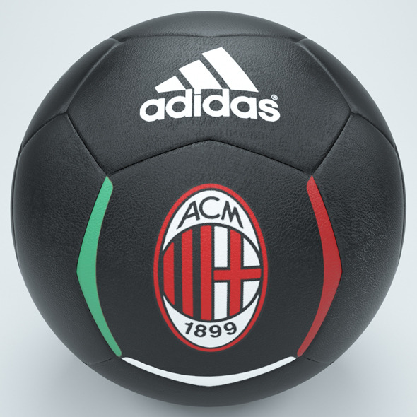 3DOcean Ac milan football black 7576500