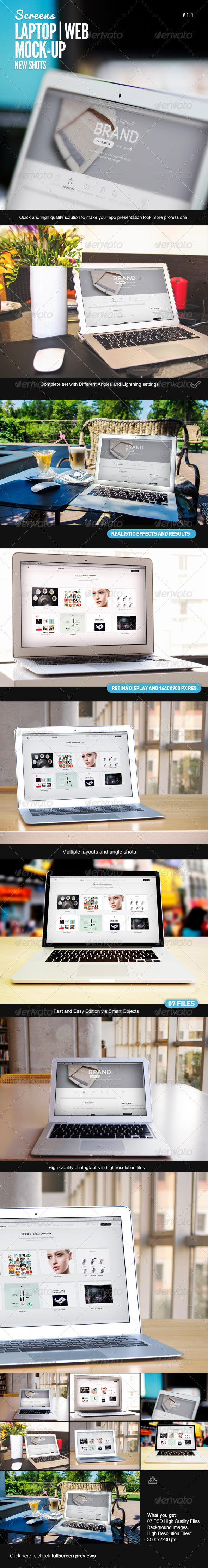 GraphicRiver Laptop Web App Mock-Up 7576516