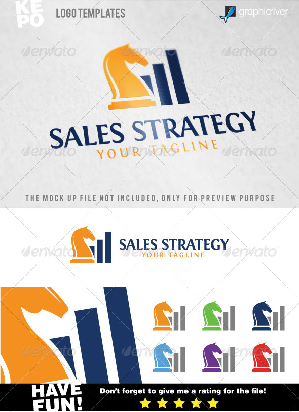 GraphicRiver Sales Strategy Logo Templates 7576571