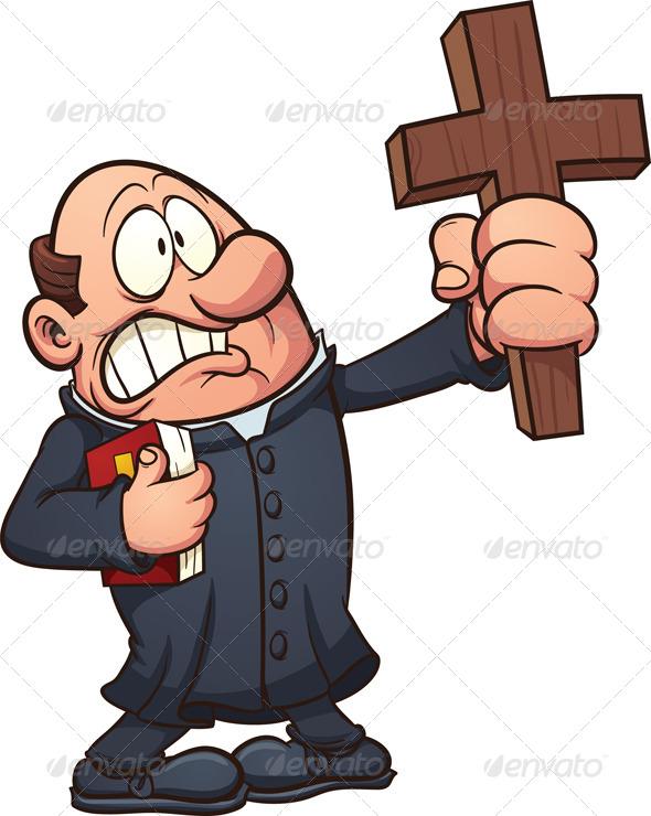 GraphicRiver Cartoon Priest 7576642